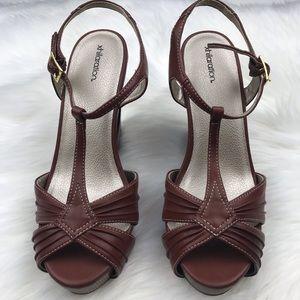 Xhilaration Shoes - Xhilaration Brown Wedge Sandals Sz 8